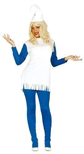 Ladies Blue Gnome 1980s Cartoon Film Fancy Dress Costume Outfit 14-18 (UK 14-18) for $<!--$31.00-->
