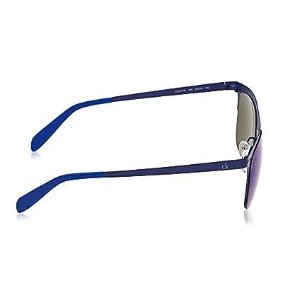 Calvin Klein CK2141S-403 Clubmaster Sea Blue Mirrored Lenses Sunglasses Frames
