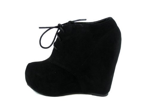Amazon.com | Lace up Platform Wedge Bootie | Ankle & Bootie