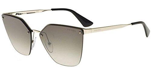 (Prada PR68TS 1BC5O0 Silver PR68TS Cats Eyes Sunglasses Lens Category 2 Lens Mir)