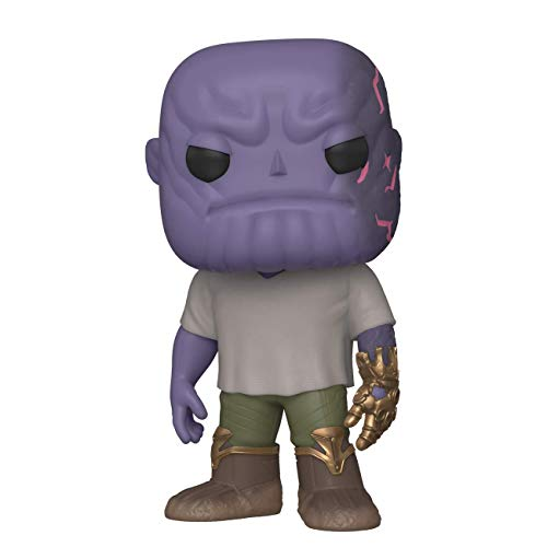 Funko- Pop Marvel Endgame-Casual Thanos w/Gauntlet Collectible Toy, Multicolor (45141)