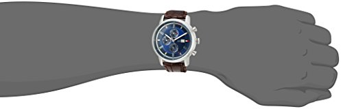 Tommy Hilfiger Men's Quartz Stainless Steel and Leather Casual Watch, Color:Brown (Model: 1791244)