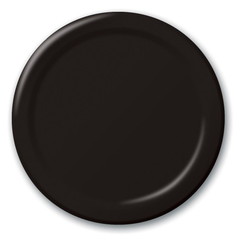 - Creative Converting Touch of Color 24 Count Paper Banquet Plates, Black Velvet