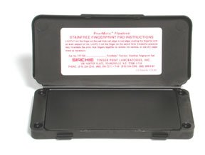 PrintMatic Flawless Ink Pad. Dimensions: 15.8 x 7.6 x 1.2cm. Weight: 88.7mL by Sirchie Finger Print Laboratories
