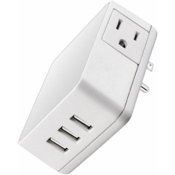 Insignia - Wall Tap USB Wall Charger - White by BESTBUY