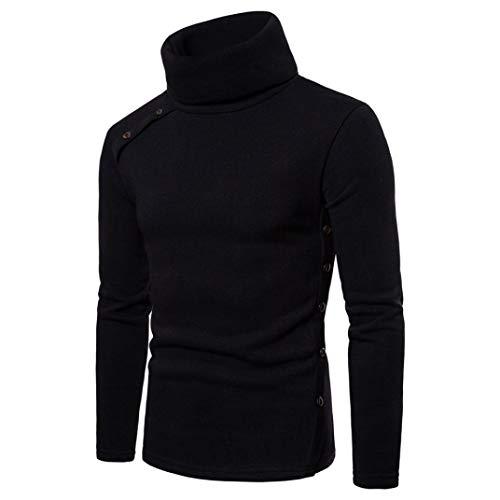Mode Tricot Choker Tops Pour Confortable Nouveau Cebbay Outwear Automne De Over Blouse La Hommes Hiver Solide Couleur Casual Noir Bouton Pure Suit Pull wYwqz6