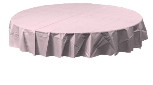 Creative Converting Octy-Round Plastic Table Cover, 82-Inch, Classic Pink ()