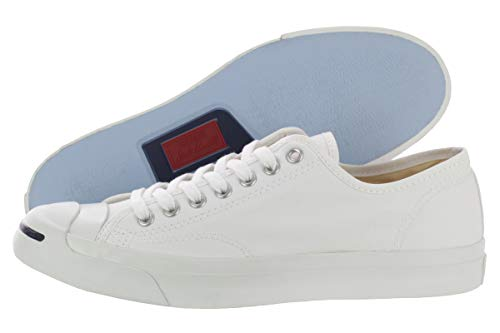 Converse Jack Purcell CP Canvas Low Top, White, Men's 9, Women's 10.5 - Leather Purcell Converse Jack