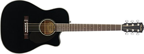 Fender CC-60SCE Right Handed Acoustic-Electric Guitar - Concert Body Style - Black (Acoustic Guitar Concert)