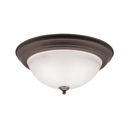 Kichler 8116OZ, 3 Light LED Flush Mount Ceiling Fixture, Olde Bronze by Kichler Lighting by KICHLER