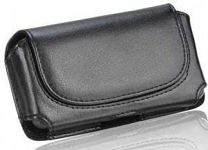 Bloutina Samsung Array Black Leather Horizontal Case Pouch With Stitched Flap Hidden Magnetic Closure Built In Belt Clip...