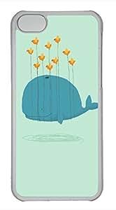 iPhone 5c case, Cute Whales Flight iPhone 5c Cover, iPhone 5c Cases, Hard Clear iPhone 5c Covers