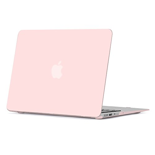 GMYLE Rose Quartz Soft-Touch Frosted Matte Plastic Hard Shell Case Cover for MacBook Air 13 inch (Model:A1369/ A1466)