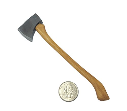 1/6 Scale Custom Made Metal American Felling Axe Hatchet Handmade Fit For 12 Action Figure (Mini Toy Axe 6 long)