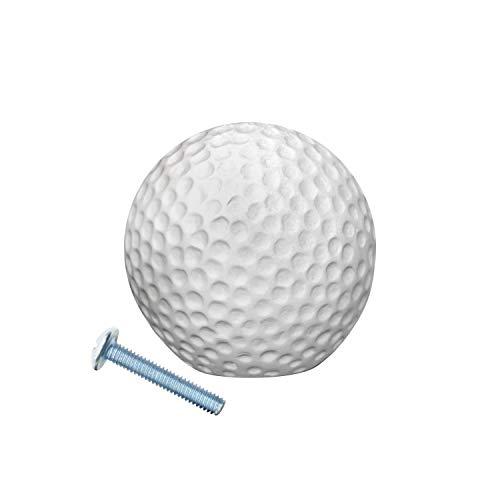 Collection Golf (Rok Hardware Go Team Collection Soccer Football Tennis Baseball Golf Basketball Ball Sport Cabinet Kitchen Home Decor Drawer Door Knob (10, Golf Ball Knob))