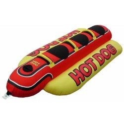 - AIRHEAD HD-3 Hot Dog Triple Rider Towable Inflatable 3 Person Boat Lake Tube