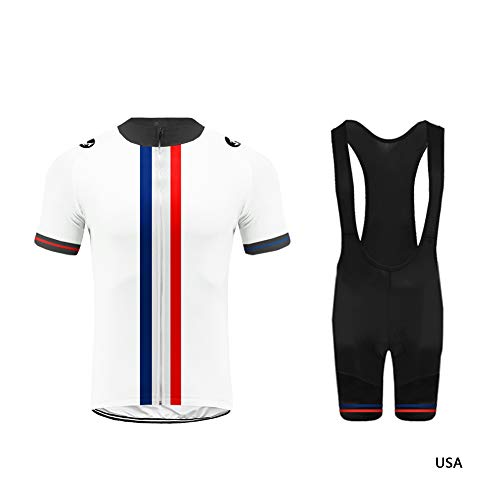 - Uglyfrog Cycling Clothing - Breathable Short Sleeve Bike Bici Jersey with 3D Gel Pad Bib Shorts for Pro Bicycle Team Wear