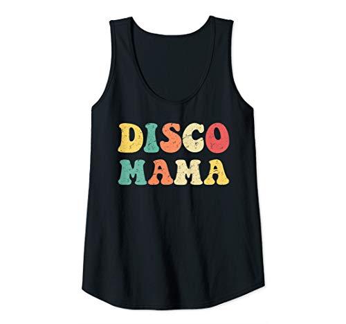 Womens Disco Mama 1970s Disco Queen Matching Couple Tank Top