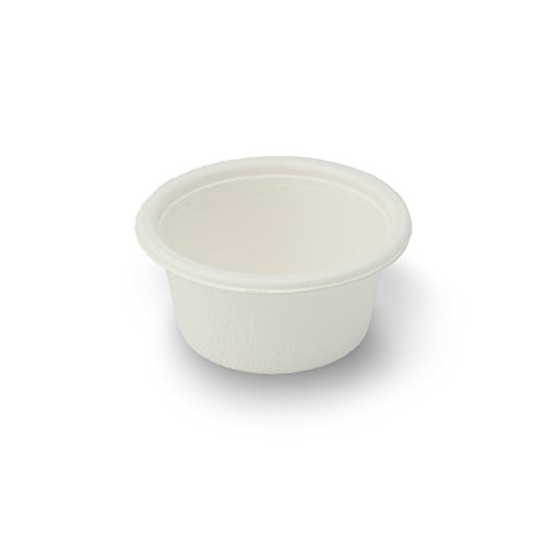 Stalkmarket 100% compostable Sugar Cane Fiber Food Container, 2-Ounce Sample Cup, 2000-count Case