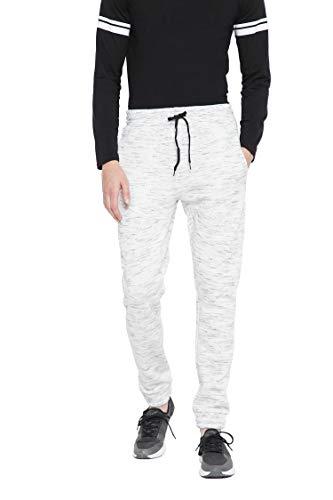 Oussum Men's Foam Fleece Joggers Sweatpant Elastic Waist Everyday Casual Wear (Ash, XL)