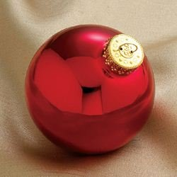 Shiny Red Ball Ornament - 2