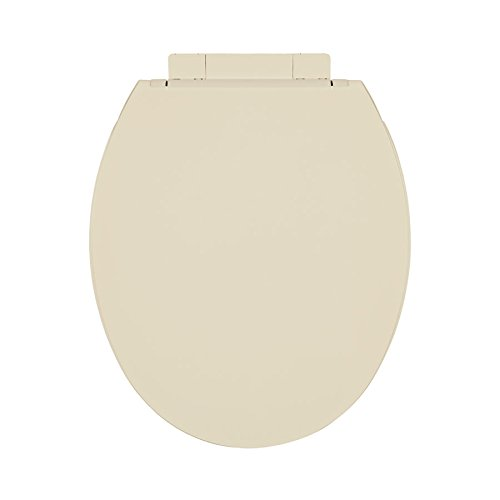 Centoco 1400SC-106-A Plastic Round Toilet Seat with Closed Front, Bone by Centoco (Image #1)