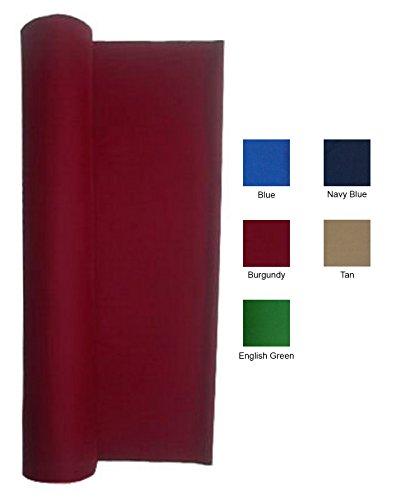 Performance Grade Pool - Billiard Cloth - Felt For An 8 Foot Table Burgundy (Burgundy)