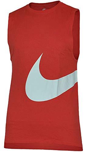 a4a378ba84294 Nike Hybrid Swoosh Logo Vest Men's Sport Fitness Tank Top Shirt Muscle  Shirt Red, Sizes:S
