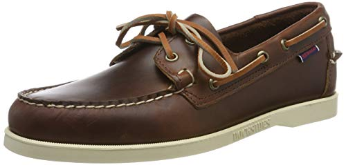 Sebago Men's Docksides Portland Waxed Loafers Brown in Size US 9.5 ()