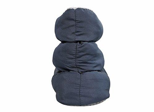 Slpr Unisex Cálido Acogedor Zapatillas De Media Bota De Interior Con Suela Antideslizante | Perfecto Para El Dormitorio De La Casa Dorm Camping Azul Marino / Gris
