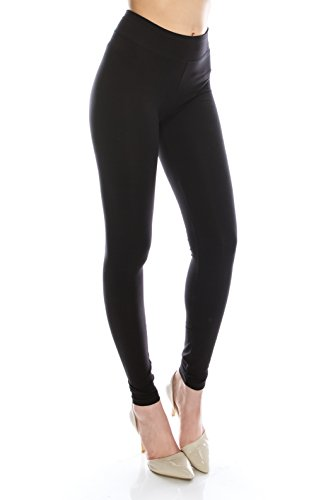 d81d7ec237bb31 EttelLut Cotton Spandex Basic Leggings Pants-Jersey Full/Capri Regular/Plus  Size