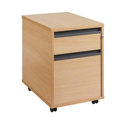 DAMS M25 2-Drawer Mobile Pedestal 1, Wood, Oak N7BTW