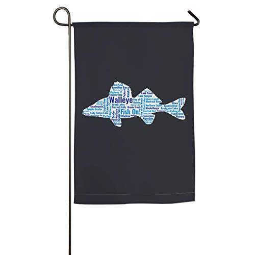 Dongingp Fishing in Ontario Canada Garden Flag- 18 X 12 Inch Outdoor Holiday Flags ()