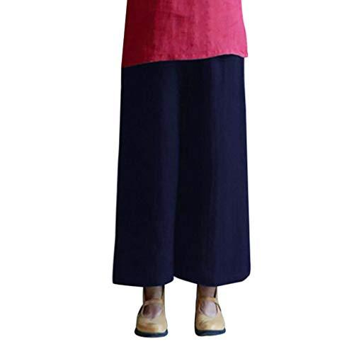 Cotone Forti Taglie Donna Pantalone Vita Dragon868 Elastica Lino Pantalone 4Xl Larghi Casual E Blu Donna YUqHwvZw