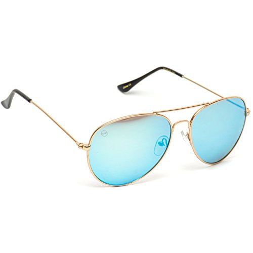Mirror Espejo gafas Blue Color de Full Frame Gold sol metal Plateado Aviator qwvaOnAtX