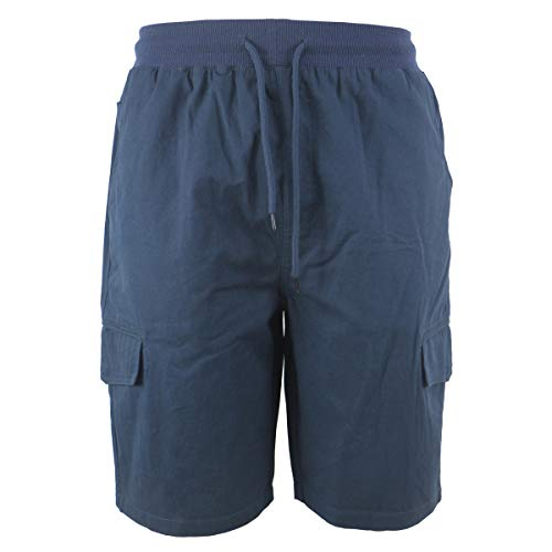 Leehanton Golf Shorts for Men Casual Navy Lightweight Expandable Waist Cargo Short with Pockets (36, Navy)