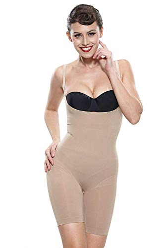 Franato Women's Firm Control Slimming Bodysuit Shapewear Body Shaper Black 3XL