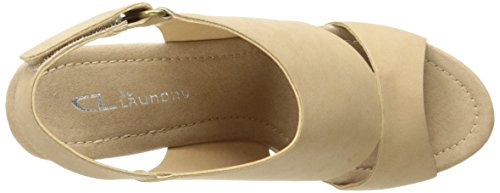 Wedge Chinese Sandal by Nubuck Cutey Laundry Platform Nude Women's CL Pump xqnF5Yw45a