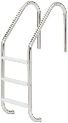 "Tiamat 80103 Stainless Steel 3 Tread Swimming Pool Ladder, 24"""