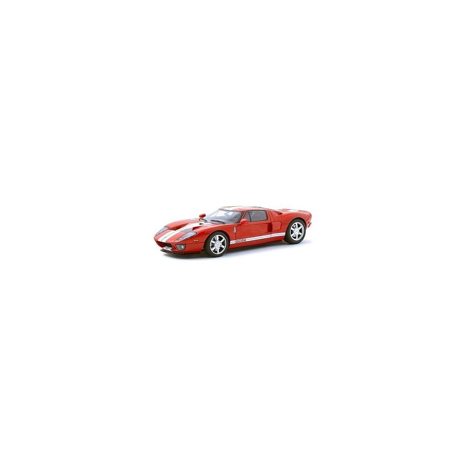 2004 Ford GT Red/White Stripe 118 Autoart Diecast Car Model