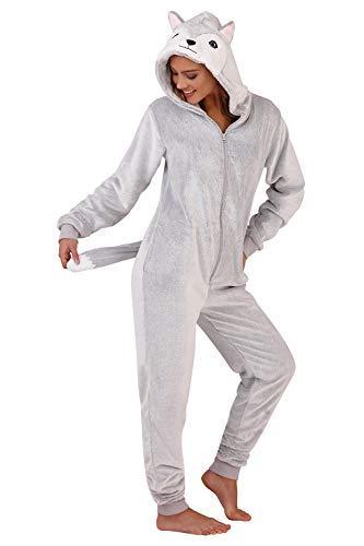 TALLA X-Large 48-50. Ladies Fluffy Thick Shaggy Onesies Todo En Onesie Pijama Pelele Sleep Jump Trajes