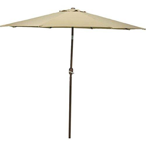 Worldwide Sourcing 65777 Aluminum Crank Umbrella, Taupe, 9' by WORLDWIDE SOURCING (Image #1)
