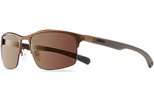 Revo Fuselight Sunglasses, Brown Frame, Terra 58mm Lenses, part of the Serilium Collection (Terra Lens)