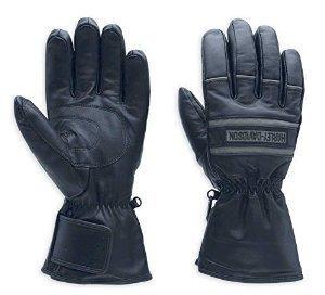 Harley Davidson Motorcycle Gloves - Harley-Davidson Men's Illumination Gauntlet Leather Gloves 98213-13VM Black Size XL