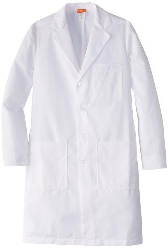 Barco Labcoats Men's Size Tall 37 Inch 6 Pocket Lab Loose Back Belt, White - Barco Lab