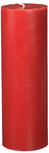Zest Candle - Zest Candle Pillar Candle, 3 by 9-Inch, Red