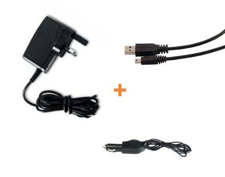 Garmin Nuvi Mini USB '3 in 1' Multi PowerKit Mains + Car + USB Data Sync Charge Computer Cable For Garmin Nuvi: Garmin Nuvi 200w 205 215 215t 205w 205WT 250w 255w 200wt 200WT 255wt 255T 265T 265WT 275t 765t 775t 860 865t 770 760t Widescreen Models (See Product Description Below For Compatibility Details) - iZKA® One Stop Shop For All Your Accessory Needs