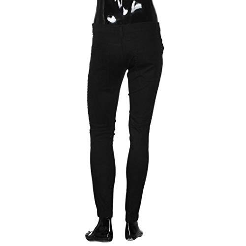 Lunghi In Fit Elasticizzati Casual Skinny Battercake Denim Aderenti Unita Pantaloni Jeans Da Nero Tinta T Slim Solid Uomo Comodo Cowboy Casuali xpg0801w