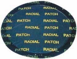 Lg Rnd Radial Tire Patch, 4-1/8 In L, PK10 (Automobile Tire Repair Kit)