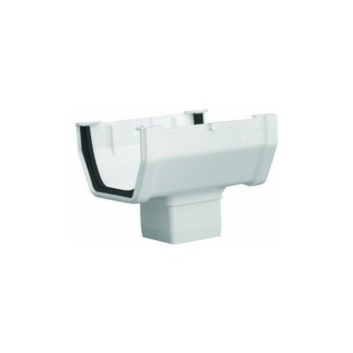 GENOVA Products RW104 Gutter Drop Outlet, White ()
